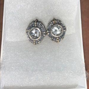 Lagos Caviar White Topaz Earrings